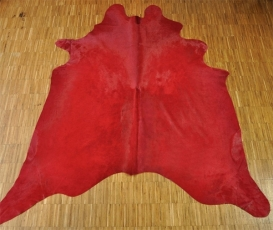 Calf Hide Carpet Red