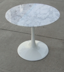 Marble side table 50 cm round